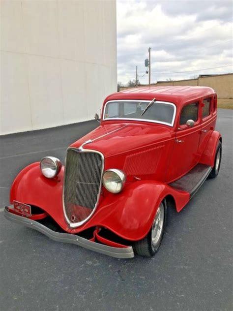 1933 Ford 4  Door Sedan Street Rod Rat Rod Allsteel Car
