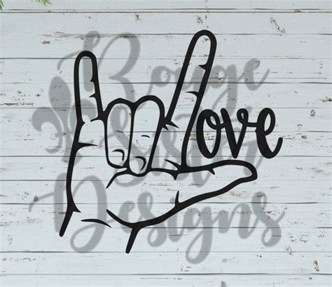 You can copy, modify, distribute and perform the work, even for commercial purposes, all. ASL Love Sign Language SVG/PNG/Jpeg Design for Silhouette ...