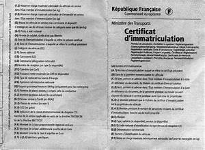 Assurer Une Voiture Sans Carte Grise : dcodage de la carte grise eribaphile ~ Gottalentnigeria.com Avis de Voitures