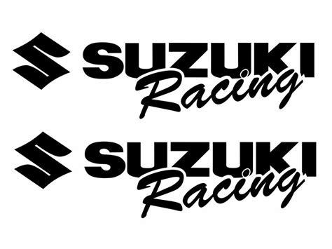 Suzuki Motorcycle Decals by 2 Suzuki Racing Decal Black Sticker Moto Gsx Gsxr 1000 600