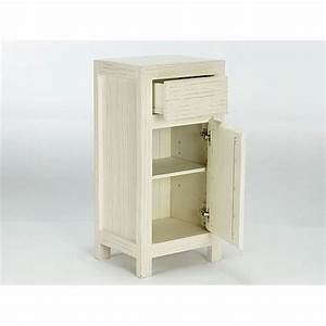 Armoire Basse Chambre : armoire basse babylon en pin laqu blanc massivum achat ~ Melissatoandfro.com Idées de Décoration