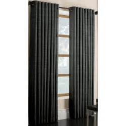 shop style selections marsden 63 in charcoal polyester grommet light filtering single curtain