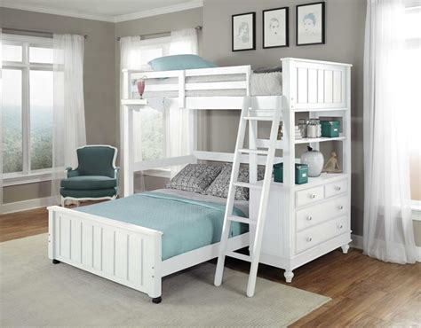 beach house twin size student loft  white kids