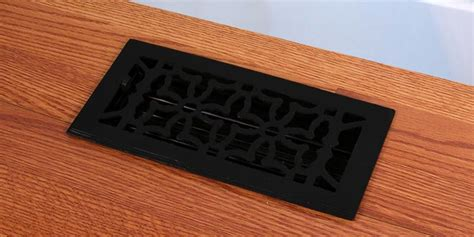 Cast Iron Floor Register Covers by Black Finish Cast Iron Floor Registers Heat