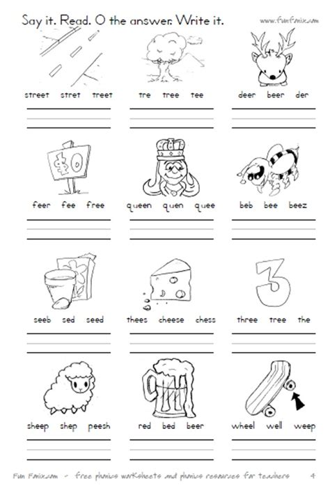 fonix book 4 vowel digraph and dipthong worksheets