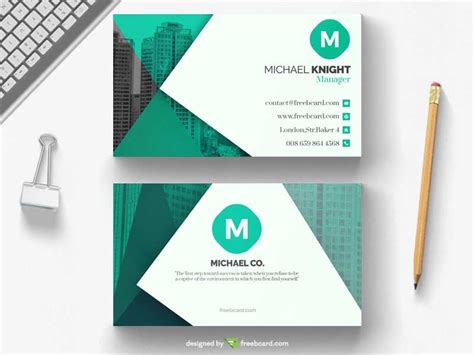 green office business card template freebcard