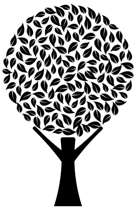 Onlinelabels Clip Art Abstract Tree 2 Silhouette