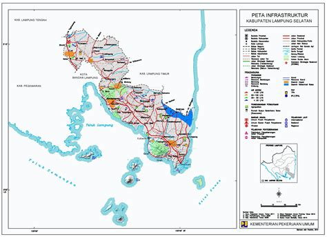 peta kota peta kabupaten lampung selatan