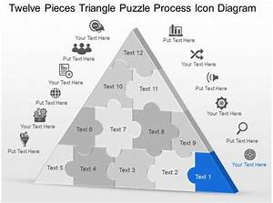 My Twelve Pieces Triangle Puzzle Process Icon Diagram Powerpoint Template Slide