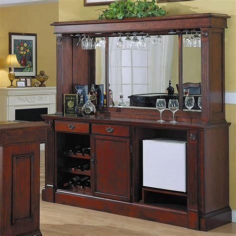 Back Bar Furniture by Monticello Back Bar W Hutch In Burnished Cherry By Eci