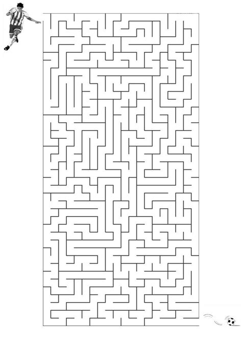coloring page maze football  printable coloring pages img
