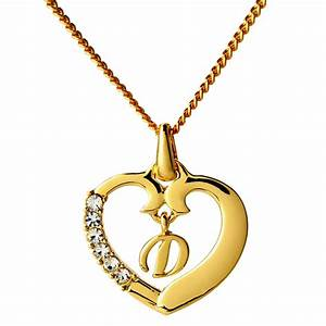 initial necklace letter d 18k yellow gold plated With letter d necklace