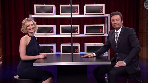 Jennifer Lawrence Opens A Box Of Lies With Jimmy Fallon