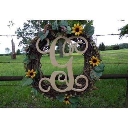 wooden monogram vine letter  unfinished craft letter paintable diy walmartcom