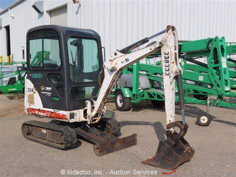 bobcat  mini excavator rubber tracks cab track hoe backhoe heat diesel ebay