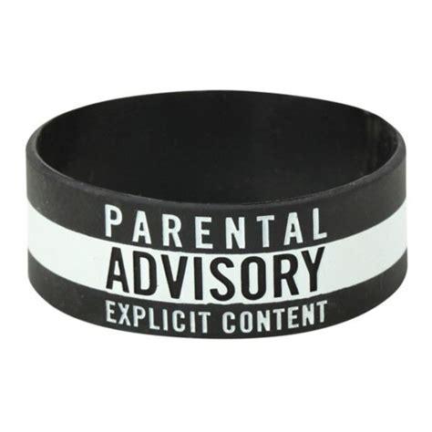 parental advisory rubber bracelet hot topic