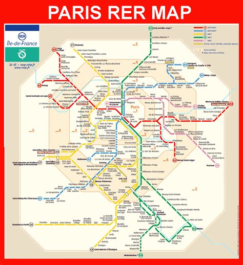 Carte Metro Rer by Rer Map