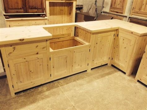 Bespoke Solid Wood Kitchen Cabinets Unfinished  40mm