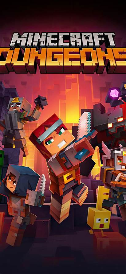 Minecraft 4k Dungeons Wallpapers Iphone Xs Games