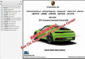 Porsche 911 992 991 997 996 Workshop Manual Wiring Diagram