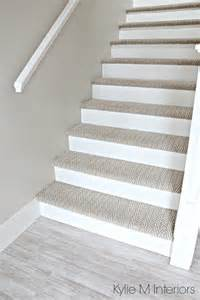 ideas for bathroom remodel stairs with carpet herringbone treads and painted white