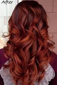 Ombré Hair Auburn : best 25 copper brown hair ideas on pinterest fall auburn hair red brown hair color and ~ Dode.kayakingforconservation.com Idées de Décoration