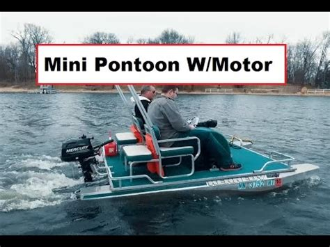 Mini Outboard Boat Motors by Mini Pontoon Boat With A 9 9hp Mercury Four Stroke