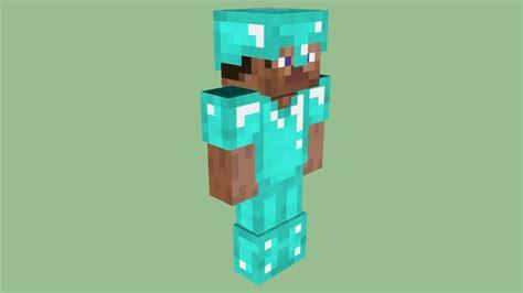 Minecraft Steve In Diamond Armor By Zapperier