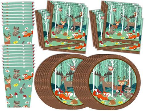 AmazonSmile: Woodland Animals Birthday Party Supplies Set