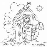 Coloring Tree Pages Magic Printable Treehouse Boys sketch template
