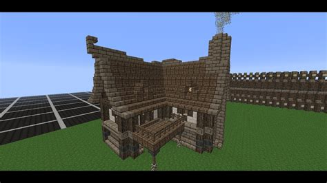 minecraft medieval house tutorial   build  house youtube