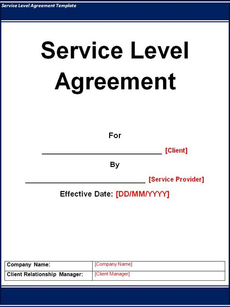 service level agreement template  commercewordpress
