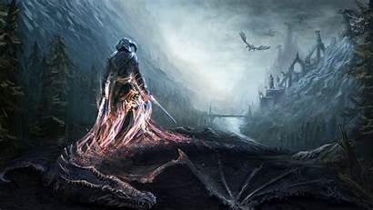 Skyrim Dragon Elder Scrolls Desktop Background Wallpapers