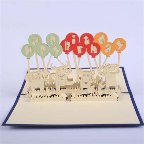 fourniture de bureau livraison gratuite animaux ballon d anniversaire carte 3d kirigami pop up