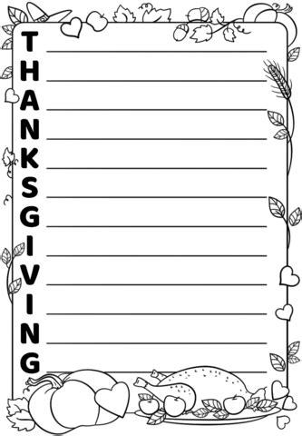 thanksgiving acrostic poem template  printable