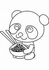 Panda Coloring Pages Cute Baby sketch template