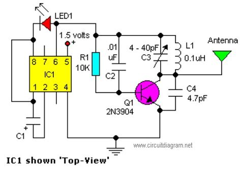easy fm tracking transmitter circuit schematic