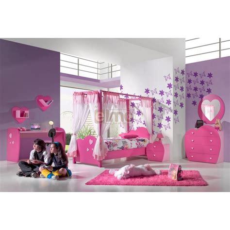 chambres de bonnes chambre complète fille lit baldaquin