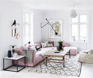 Lovely living room with rose quartz accents - Daily Dream
