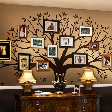 tree wall decor stickers family tree wall decal tree wall decal for picture frames