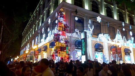 merry christmas noel  ho chi minh city vietnam youtube