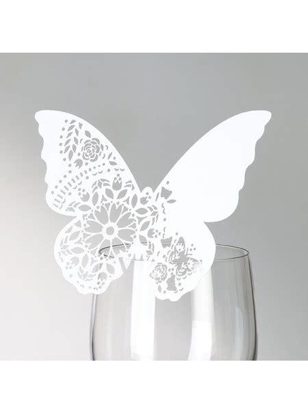 decorazioni bicchieri decorazioni per bicchieri a forma di farfalla in pizzo