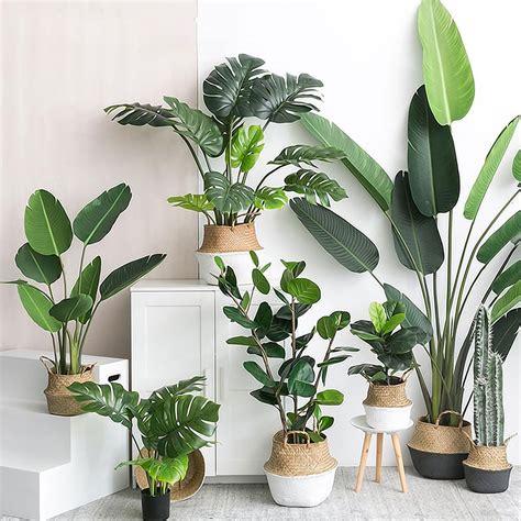 artificial plants green turtle leaves garden home decor