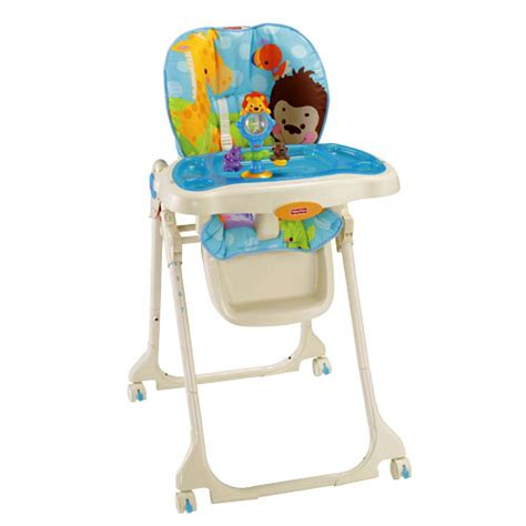 chaise fisher price precious planet blue sky high chair