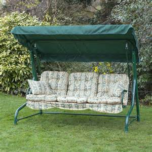 garden 3 seater replacement swing seat hammock cushion set choice of colours ebay
