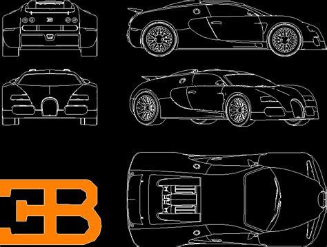 bugatti veyron car dwg block  autocad designs cad