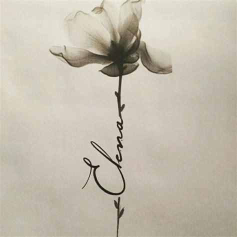Flower Name Tattoo  Tattoos  Pinterest  Tattoo, Flower