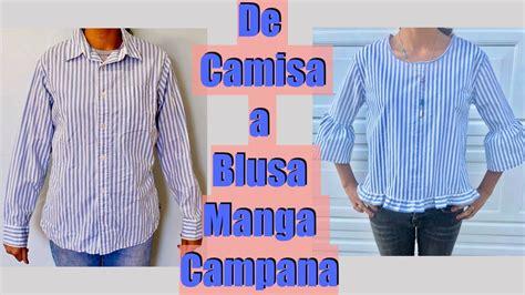 Transforma una Camisa en Blusa Manga Campana YouTube