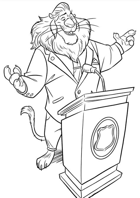 zootopia  children zootopia kids coloring pages
