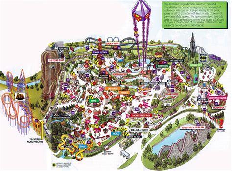 Theme Park Brochures Six Flags Over Texas - Theme Park ...